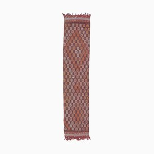 Tappeto Kilim Oushak vintage in lana fatti a mano, 2x10 m