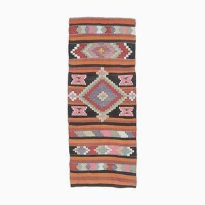 3x6 Vintage Turkish Kilim Oushak Handmade Wool Area Rug