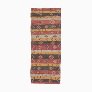 Handgefertigter türkischer Vintage Kilim Oushak Teppich aus Wolle, 4er Set