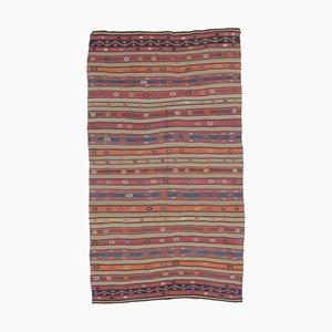 Handgefertigter türkischer Vintage 5x9 Kilim Oushak Woll-Teppich