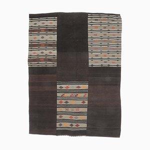 Tappeto Kilim Oushak vintage in lana fatta a mano, 7x10, Turchia