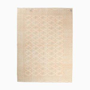 8x11 Vintage Turkish Handmade Pastel-Colored Wool Rug