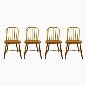 Austrian Beech Windsor Dining Chairs by Josef Frank, Set of 4