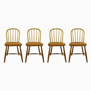 Chaises de Salon Windsor en Hêtre par Josef Frank, Autriche, Set de 4