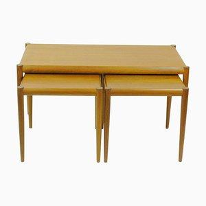 Danish Teak Nesting Tables, Set of 3