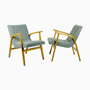 Café Ritter Beechwood Armchairs by Roland Rainer, Set of 2