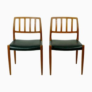 Scandinavian Model 83 Teak Dining Chairs by Niels Otto Möller, Set of 2