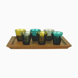 Scandinavian Liquor Glasses by Kaj Franck for Nuutajarvi, Set of 6