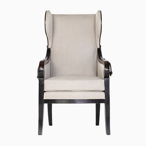 French Ebonised Reclining Armchair, Early 1800s