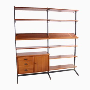 Swedish Adjustable Wall Unit or Bookcase by Olof Pira, 1960s
