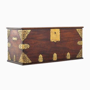 Brass Mounted Trunk, 1700s