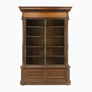 Large French Oak Bookcase, 1800s