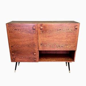 Aparador vintage de wengué con mueble bar, años 60