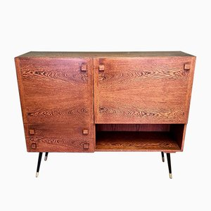Vintage Wenge Sideboard with Bar, 1960s