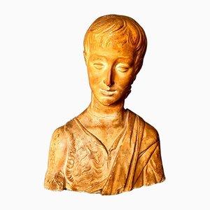 Busto antiguo de yeso