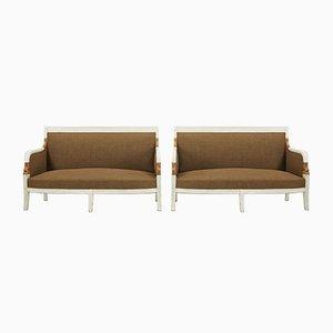 Französische Lackierte Sofas, 1800er, 2er Set