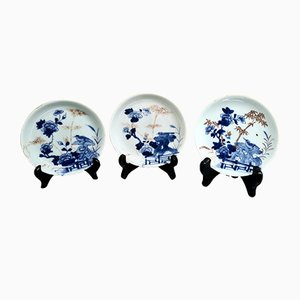 Antique Chinese Porcelain Dishes, 18th Century, Set of 3