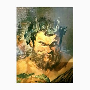 Satyr Malerei im Stil von Peter Paul Rubens