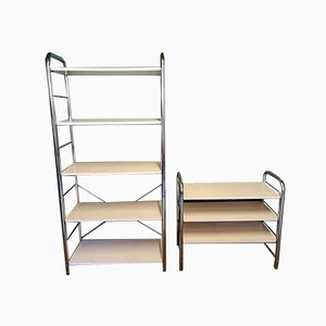 Vintage Chromed Shelves, 1970s, Set of 2