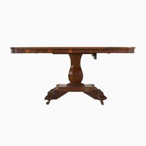 Mesa de madera nudosa de roble, década de 1800