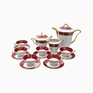 Vintage Coffee Set from Limoges, Set of 15