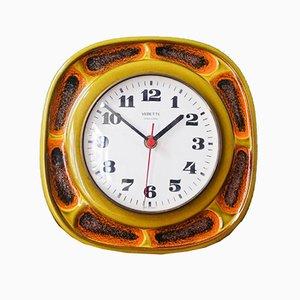 Reloj de pared francés Mid-Century de Vedette, años 70