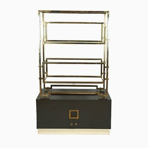 Vintage French Brass Shelf by Guy Lefevre for Maison Jansen, 1970s