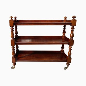 Victorian Mahogany Three Tier Buffet Trolley
