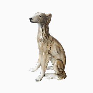 Escultura de perro portuguesa de cerámica, años 70