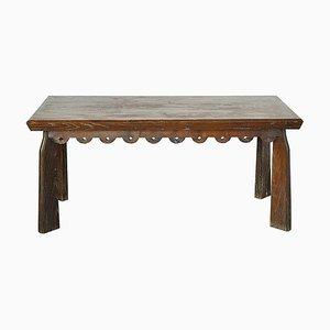 Mesa de comedor de madera de Paolo Buffa, años 40