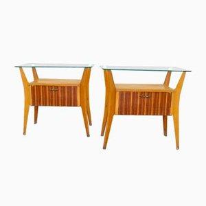 Tables de Chevet par Gio Ponti pour La Permanente Mobili Cantù, 1950s, Set de 2