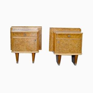 Tables de Chevet Art Déco, 1940s, Set de 2