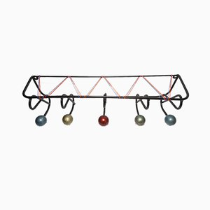 Wall Coat Rack with 5 Balls, 1960s
