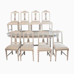 Chaises de Salon Antiques Gustaviennes, Set de 8