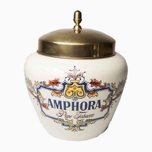 Dutch Ceramic Snuff Box from Zenith Gouda, 1960s