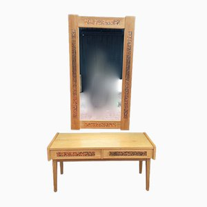 Console & Mirror Set or Dressing Table, 1960s