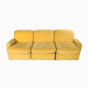 Divano modulare giallo in cinque parti, anni '60, set di 5