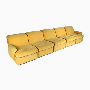 Corn Yellow 5-Piece Modular Sofa, 1960s, Set of 5
