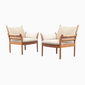 Sessel von Illum Wikkelsø für CFC Silkeborg, 1960er, 2er Set