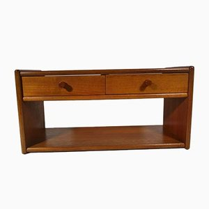 Danish Teak Suspended Console Shelf, 1960s