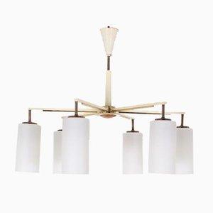 Lámpara de araña modernista de 6 luces, años 60