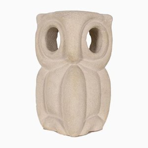 Stone Owl Table Lamp by Albert Tormos, 1970s