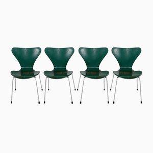 Chaises d'Appoint par Arne Jacobsen pour Fritz Hansen, 1970s, Set de 4