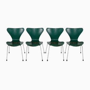 Side Chairs by Arne Jacobsen for Fritz Hansen, 1970s, Set of 4