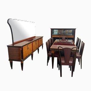 Juego de comedor de palisandro y madera de arce, 1956. Juego de 12