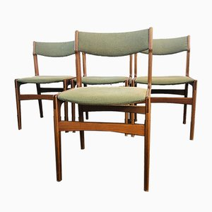 Danish Rosewood Dining Chairs by Erik Buch for Odense Maskinsnedkeri / O.D. Møbler, 1960s, Set of 4
