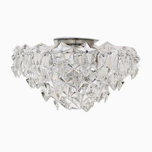 Brutalist Crystal OTT 3000 Chandelier from OTT International, 1970s