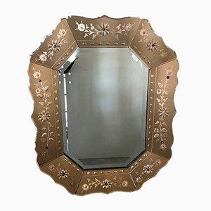 Espejo veneciano Mid-Century