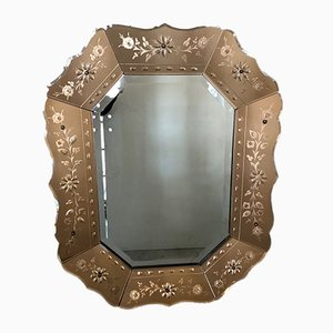 Venezianischer Mid-Century Spiegel