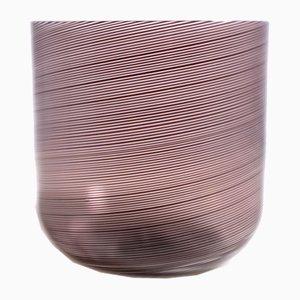 Italian Glass Filigrana Vase by Tapio Wirkkala for Venini, 1980s